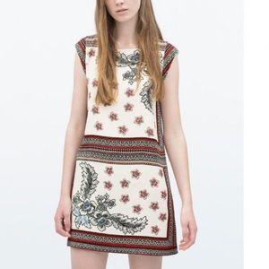 Zara boxy floral dress